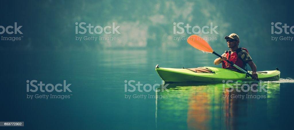 Kayak Water Sports Banner stock photo