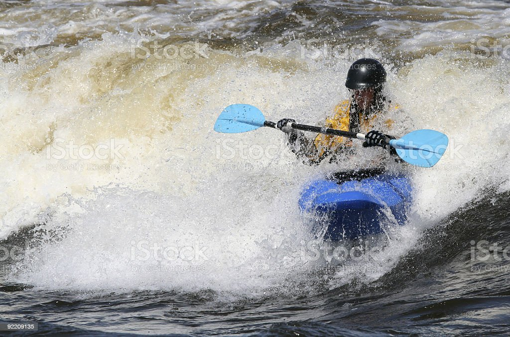 Kayaker Getting Wet royalty-free stock photo