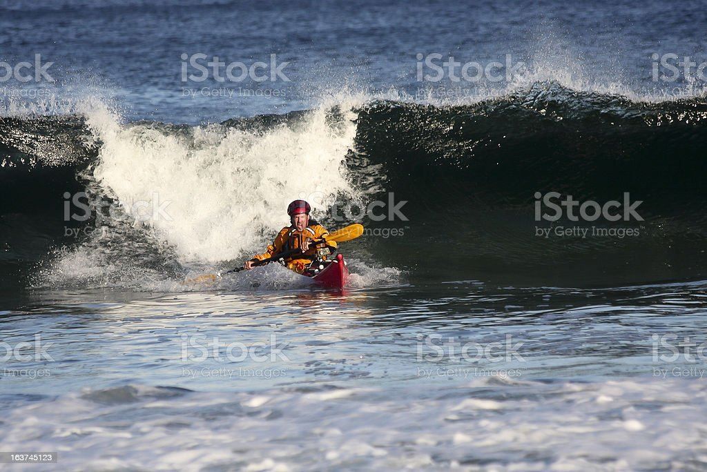 Kayaker in action royalty-free stock photo