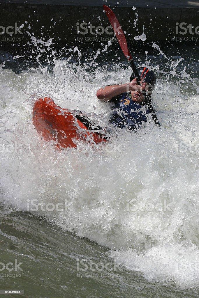 kayaker in white water royalty-free stock photo