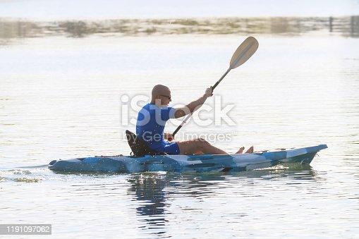Kayaker Man Paddle Kayak. Kayaking, Paddling, Canoeing.