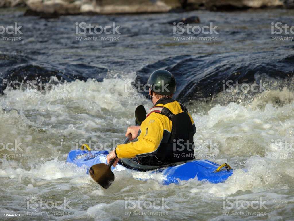 Kayaker royalty-free stock photo