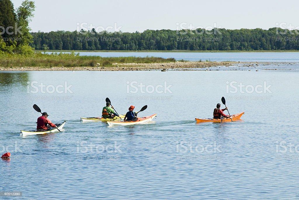 Kayaking 3 royalty-free stock photo