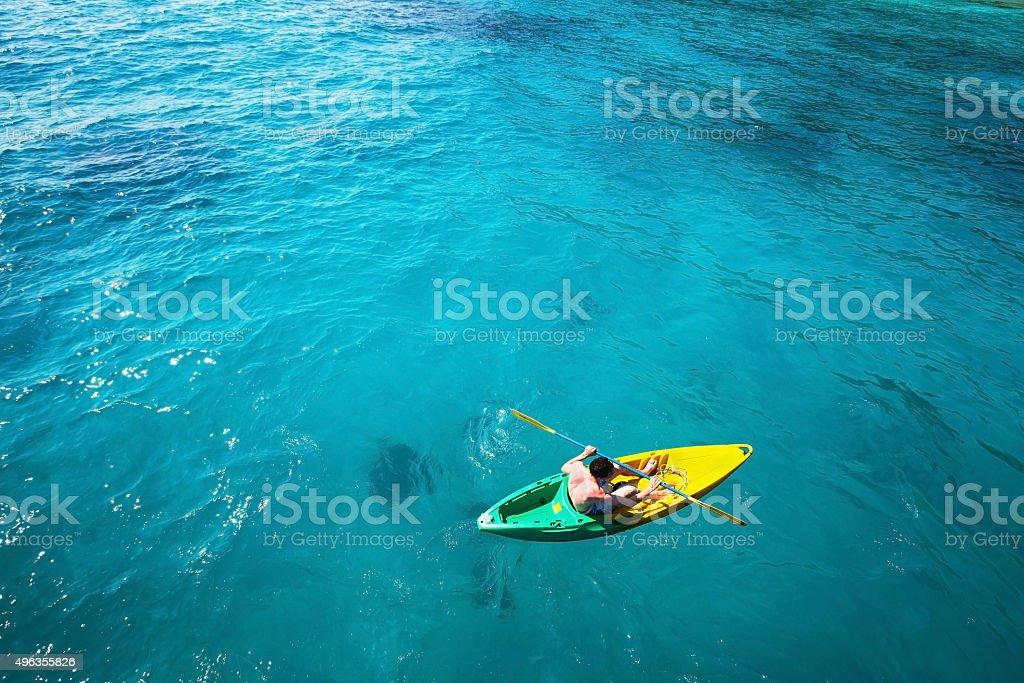 Kayak de fondo - foto de stock