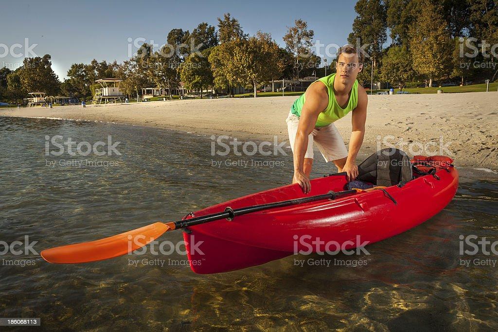 Kayaking in California royalty-free stock photo