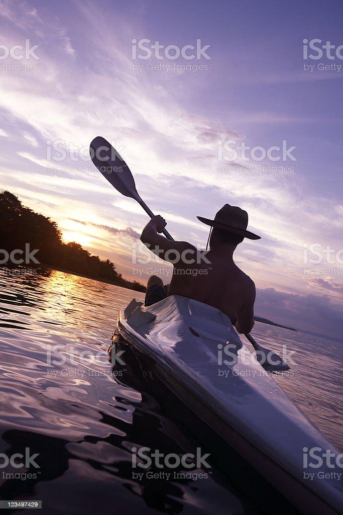 Kayaking in Costa Rica royalty-free stock photo
