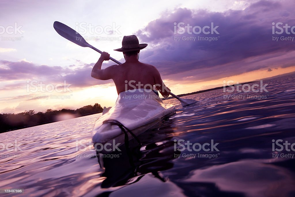 Kayaking in Costa Rica royalty-free stock photo