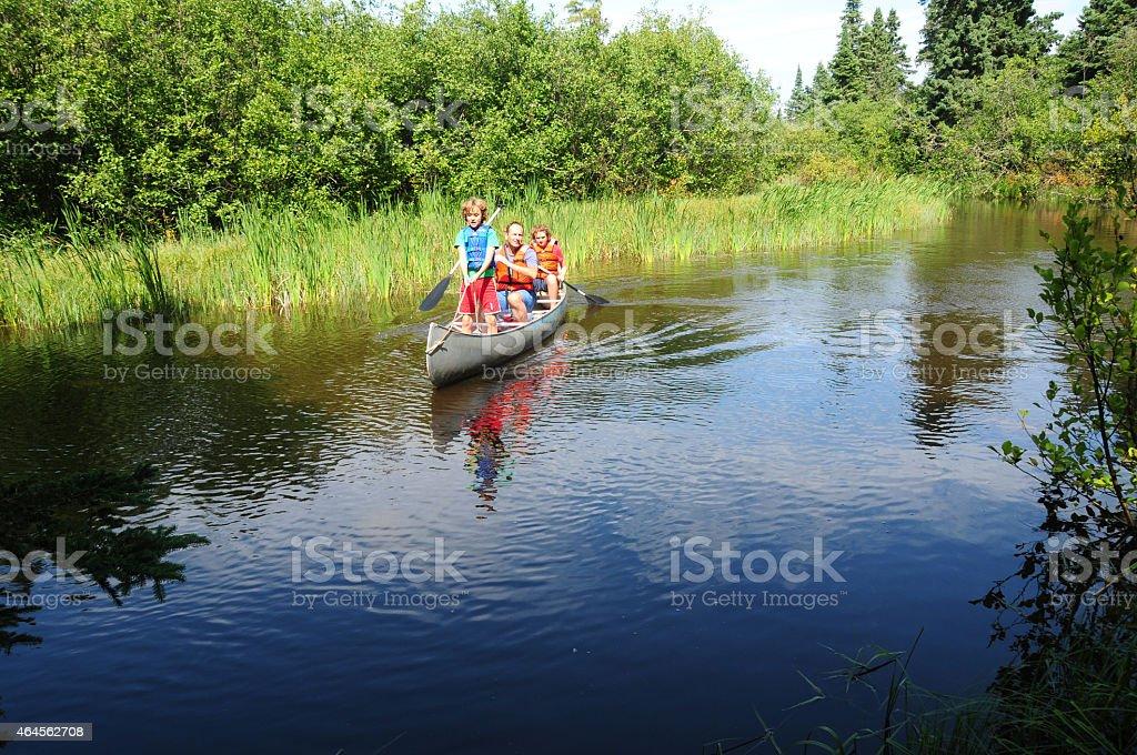 Kayaking in Lake Superior, Isle Royale National Park stock photo