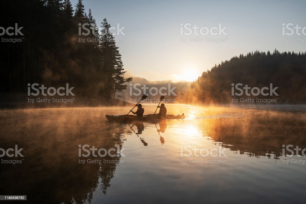 Kayaking in nature. - Royalty-free Ao Ar Livre Foto de stock