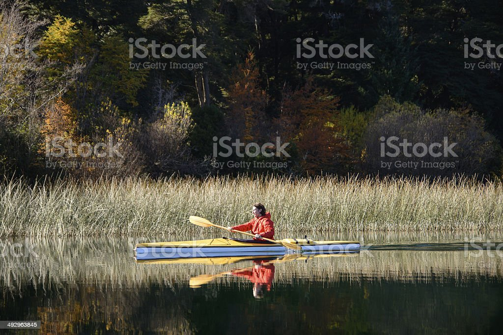 Kayaking in Patagonia royalty-free stock photo