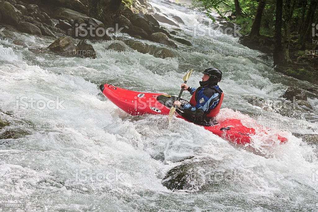 Kayaking in the Smoky Mountains royalty-free stock photo