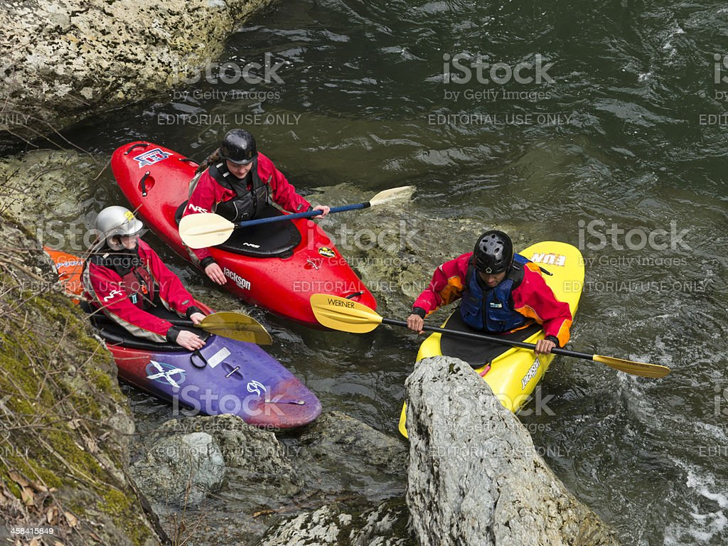 Kayaking in the Smoky Mountains royalty-free stock photo