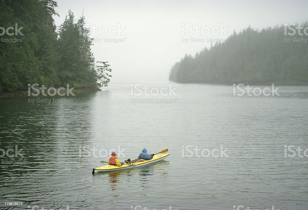 Kayaking in the Wildernes stock photo