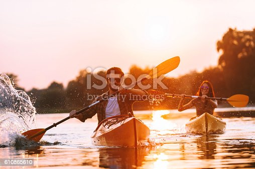 istock Kayaking is their life. 610865610