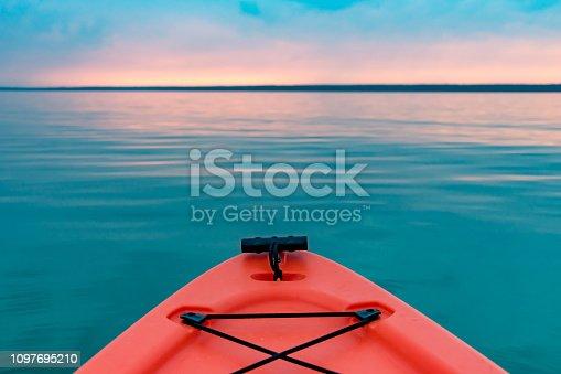 Kayaking northern Saskatchewan, Meadow Lake Provincial Park, on Lac des Isles.