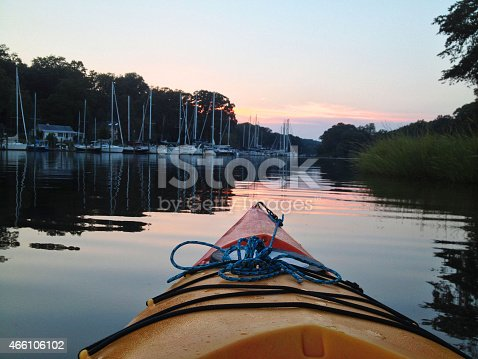 istock Kayaking on a Quiet Cove 466106102