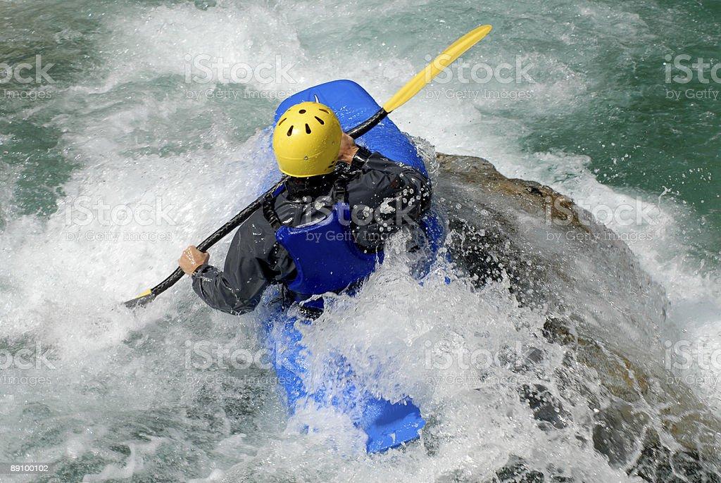 Каякинг on the rapids of river Стоковые фото Стоковая фотография
