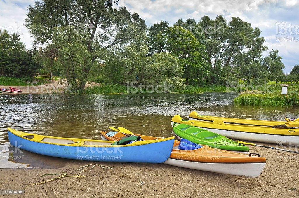 Kayaking on the river Krutynia, Poland royalty-free stock photo