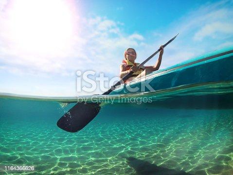 Woman on the kayak