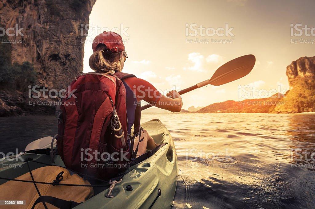 Kayaking stock photo