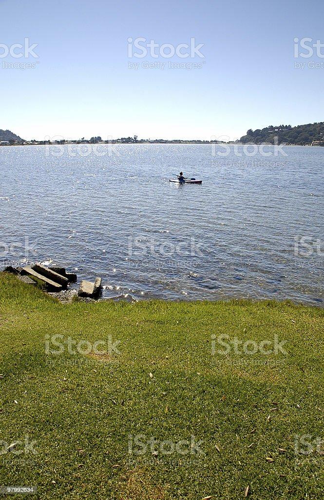 Kayaking royalty free stockfoto