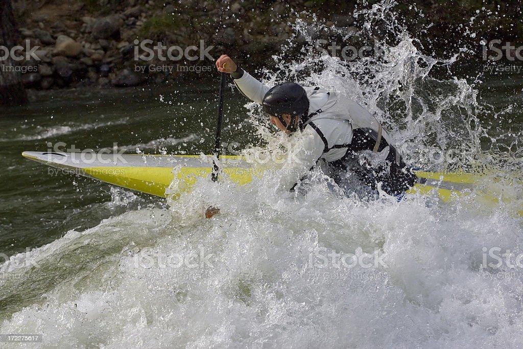 Kayaking.  Siberian River. Kazur. Kuznetsky Alatau. 03 royalty-free stock photo