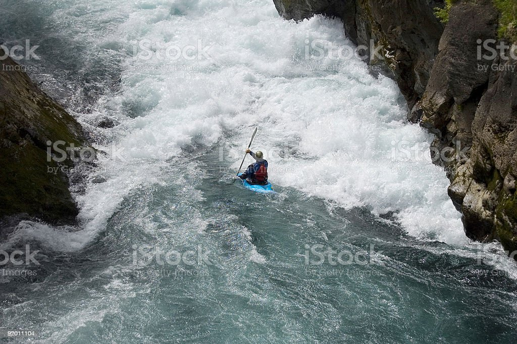Kayaking white water royalty-free stock photo
