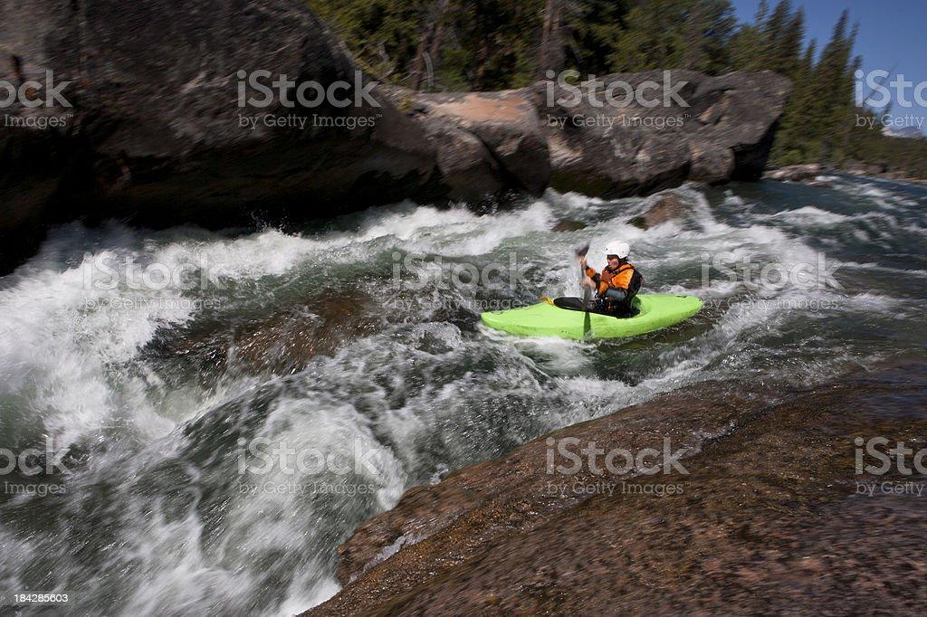Kayaking Whitewater stock photo