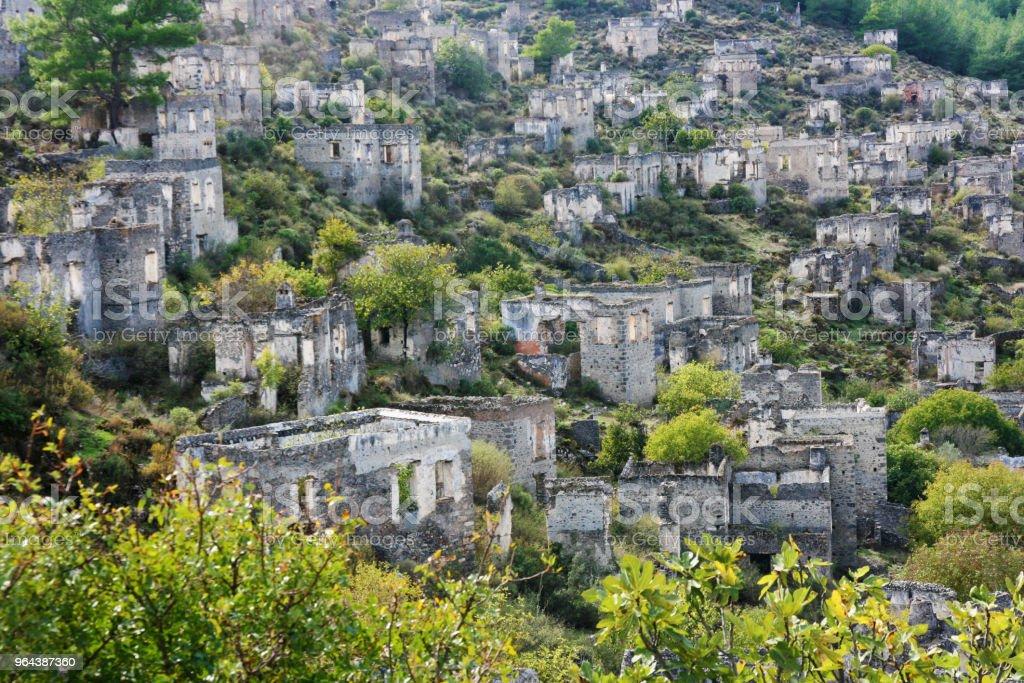 Kayakoy, Fethiye, Turquia - Foto de stock de Antigo royalty-free