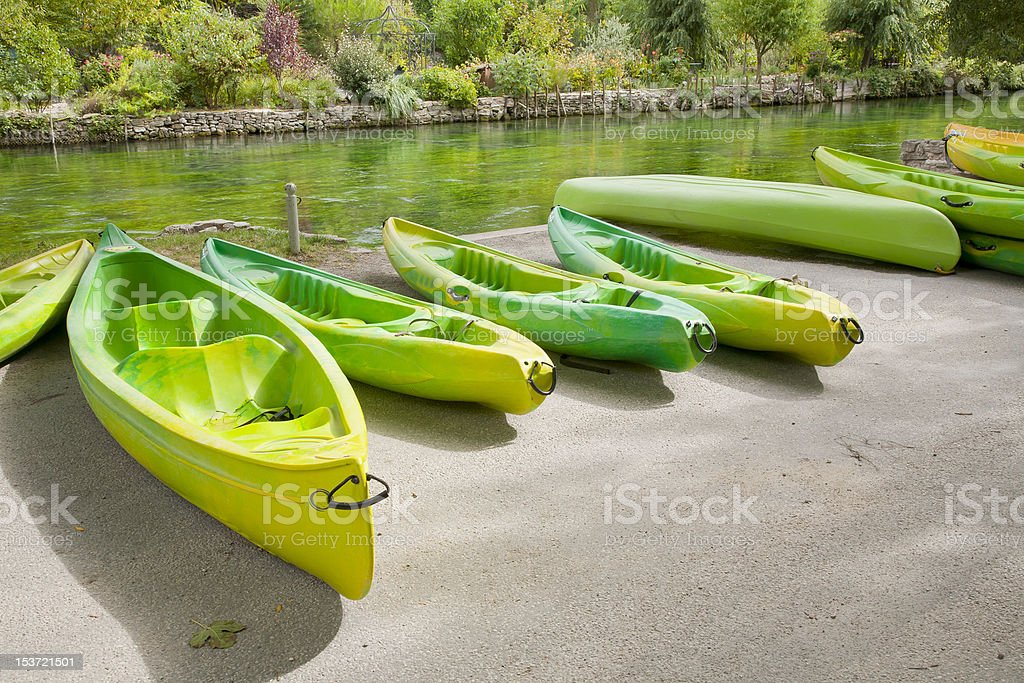 Kayaks and Canoes stock photo