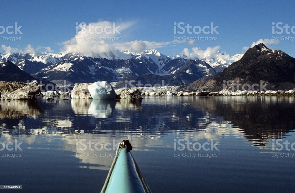 Kayaks Level View of Alaska stock photo