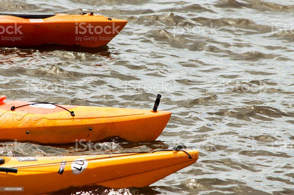 Kayaks stock photo
