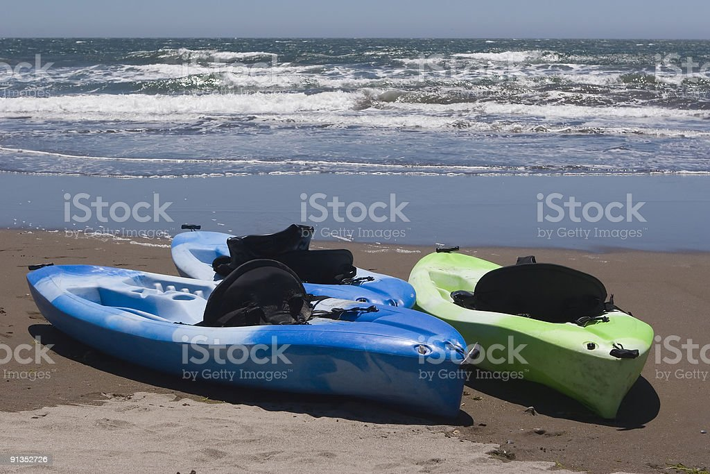 Kayaks royalty-free stock photo