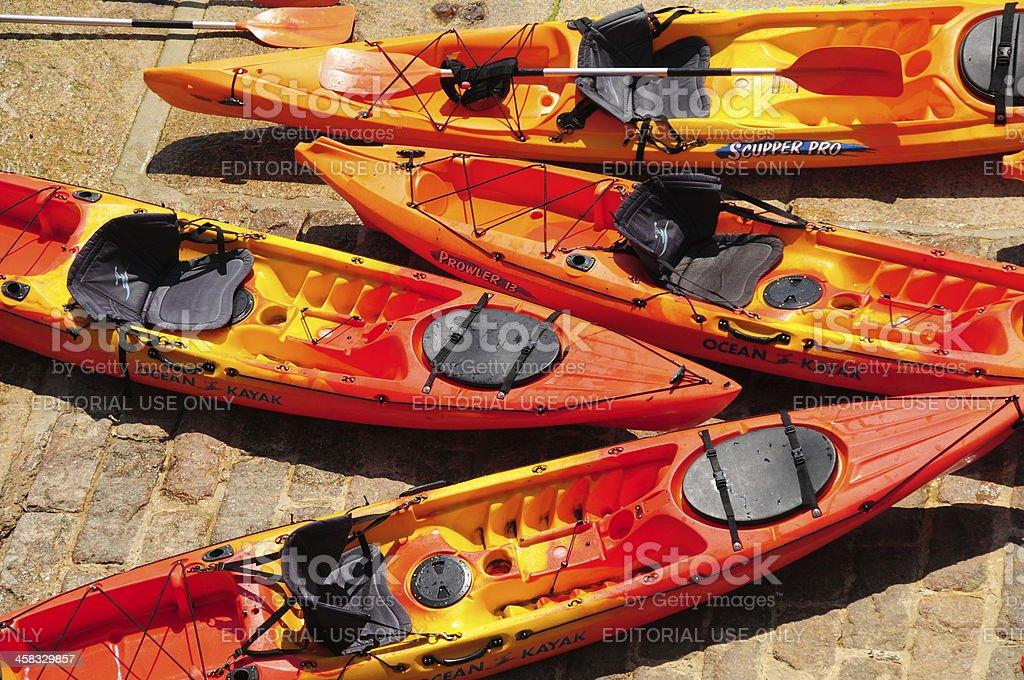Kayaks, U.K. royalty-free stock photo