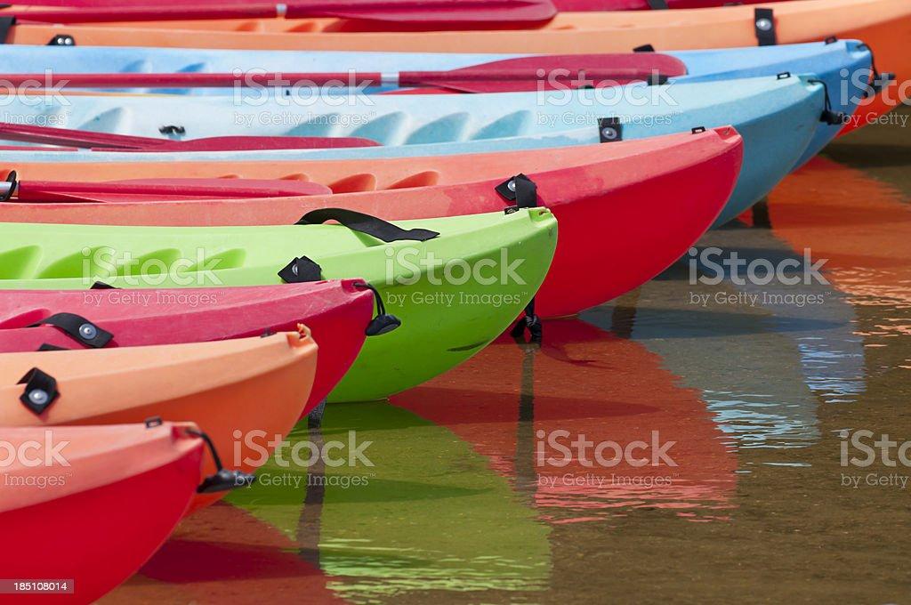 Kayaks Water royalty-free stock photo