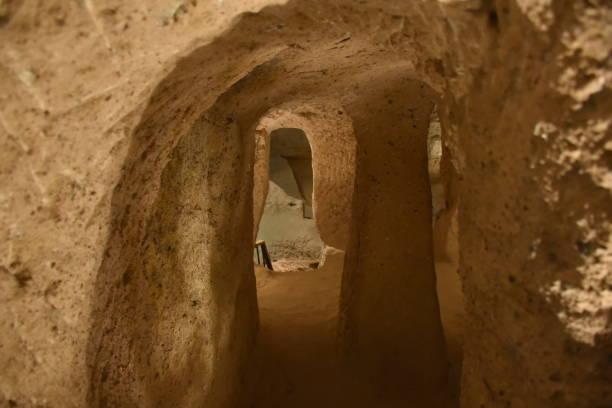 Kaymakli Underground City Village, Kappadokien, Türkei – Foto