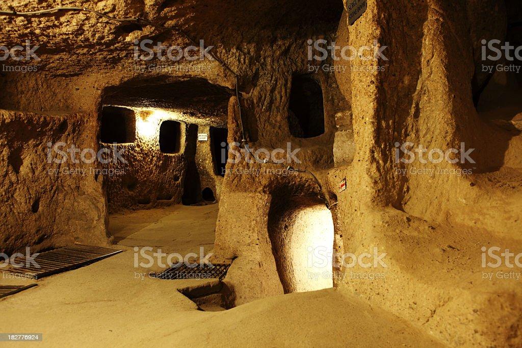 Kaymakli Underground City Village Cappadocia Turkey stock photo