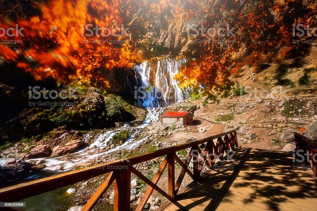 Kayseri / Kapuzbasi waterfall stock photo