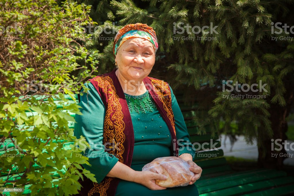 Kazakh Adult Women Smiling Happy Concept stock photo