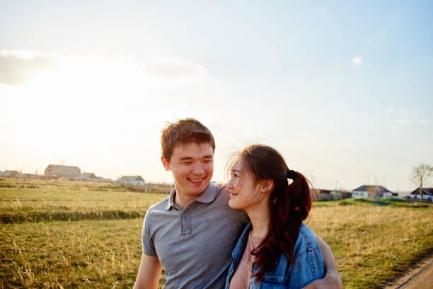 Kazakh couple in the village – Foto