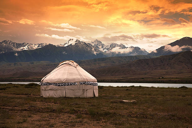 Kazakh jurt  steppe stock pictures, royalty-free photos & images