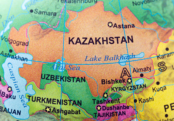 Kazakhstan and neighbor countries  kazakhstan stock pictures, royalty-free photos & images