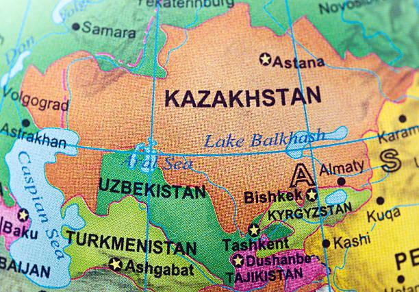 Kazakhstan and neighbor countries stock photo