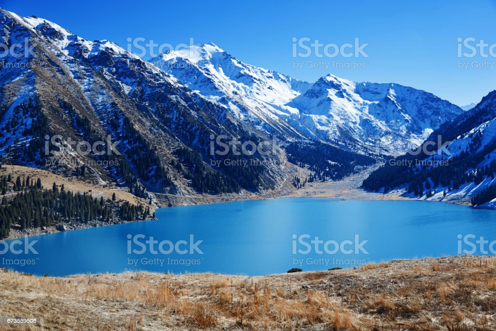 Kazakhstan - Big Almaty Lake, Almaty city royalty-free stock photo