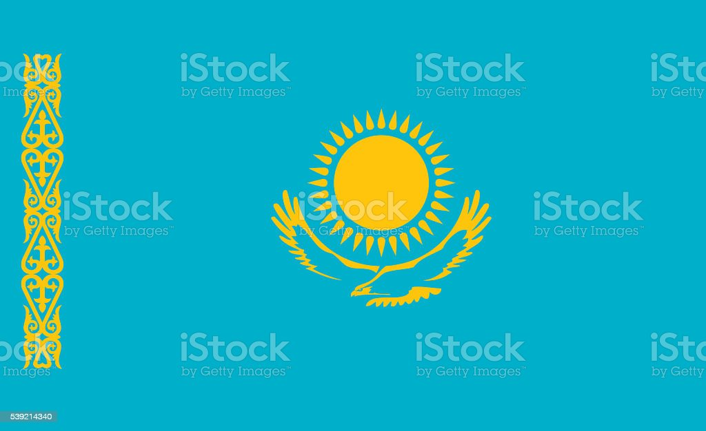 Kazakhstan flag stock photo