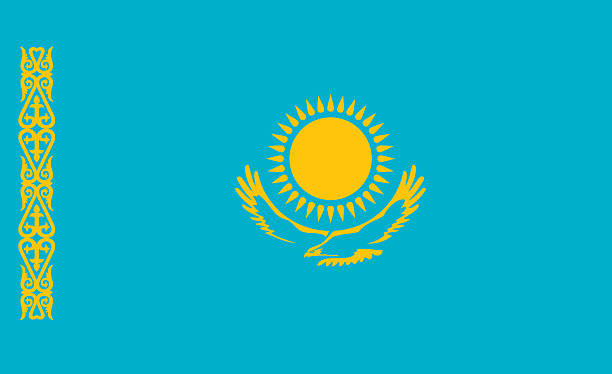 Kazakhstan flag Kazakhstan flag kazakhstan stock pictures, royalty-free photos & images