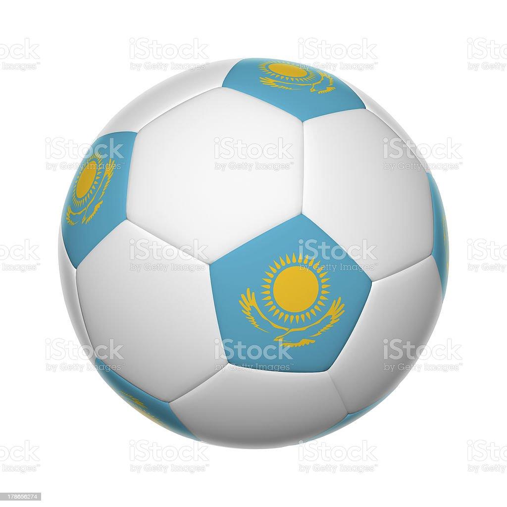 Kazakhstan soccer ball royalty-free stock photo