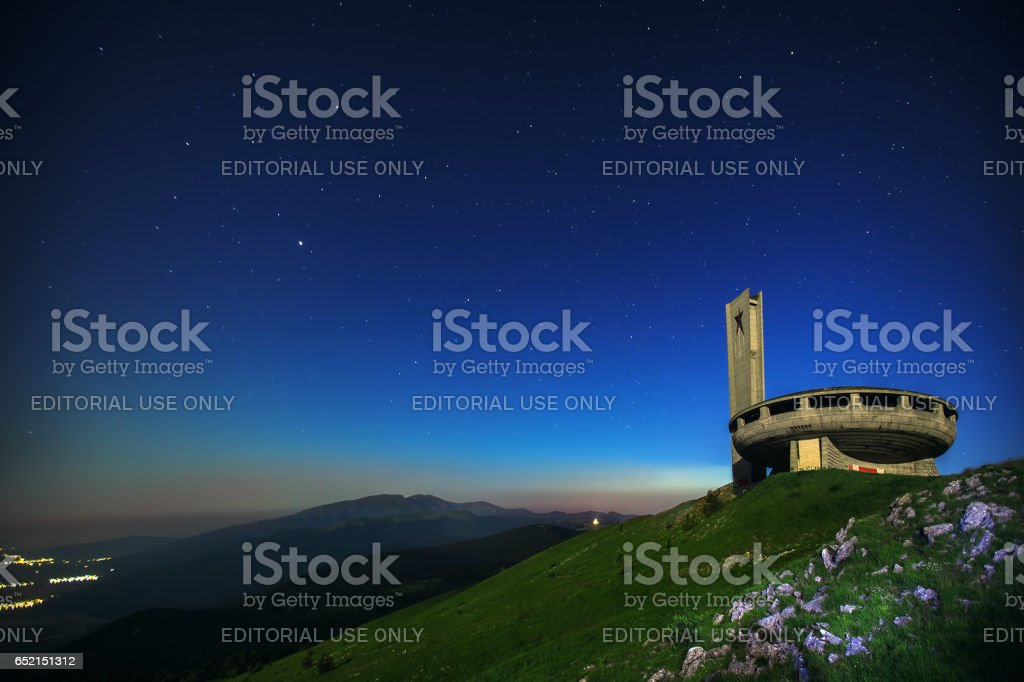 Kazanlak Region, Bulgaria, Juny 22.2016. Comunistical monument in Buzludzha is a historical peak in the Central Balkan Mountains, Bulgaria and is 1,441 metres (4,728 feet) high stock photo