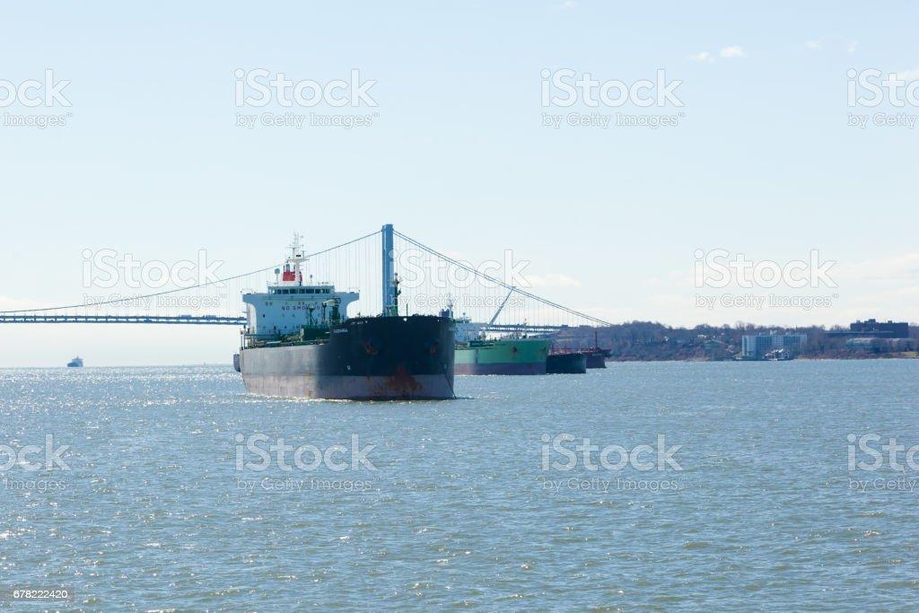 Kazdanga Tanker on the Hudson River stock photo