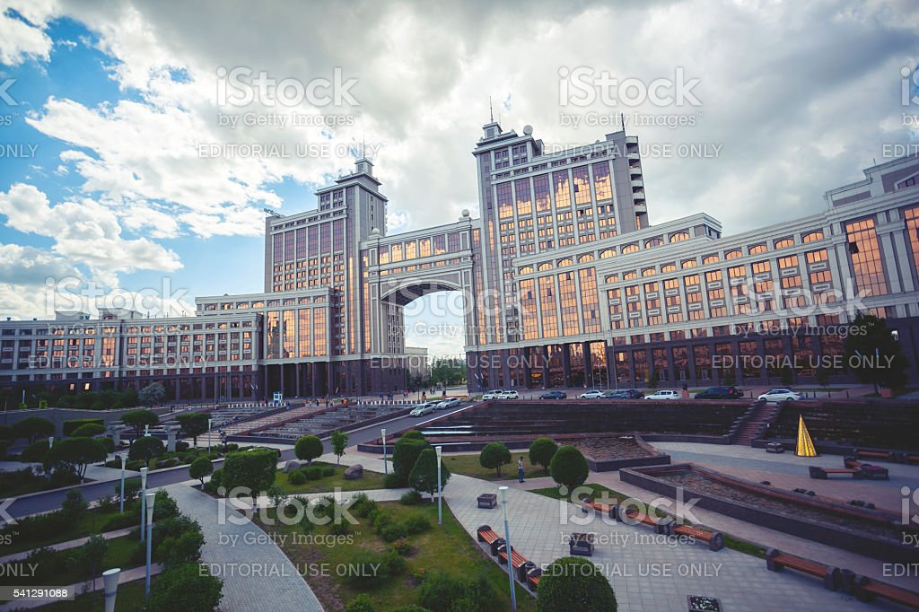 KazMunaiGas in Astana, Kazakhstan stock photo
